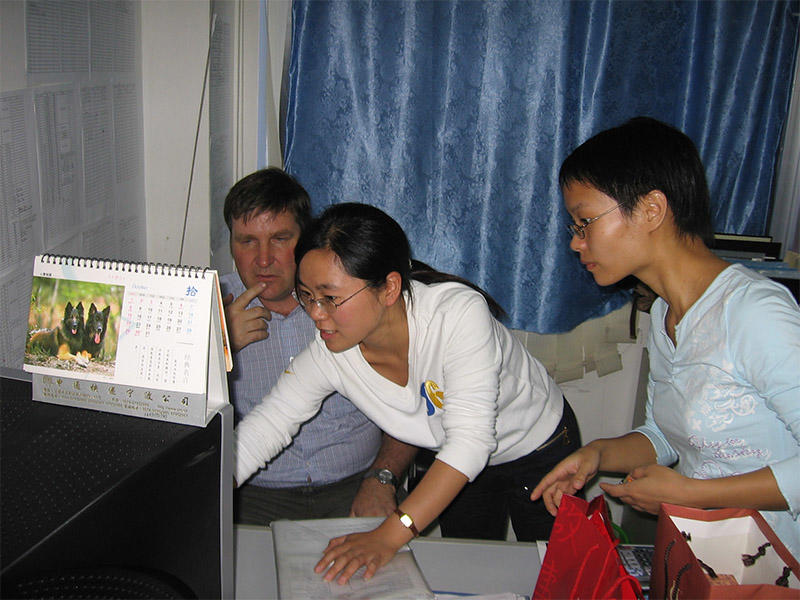 2006 in our office,customer from Isle of Wight UK with Winnie,Tinna