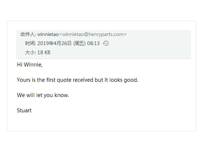 customer from Winchester OHIO USA